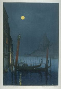 Yoshijiro Urushibara (1888-1953), Grand Canal, Venise.