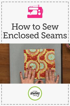 Enclosed seams provide a lovely finish for your garments.  Colleen Exline shows you how to make professional looking garments with five common types of enclosed seams. She discusses which type of seams work best for which garments and fabrics. Get started on your next beautiful garment today with these helpful tips!