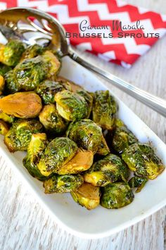 Deliciously seasoned and roasted to perfection these garam masala Brussels sprouts are a fantastic addition to your holiday table.