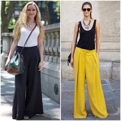 yellow pallazo pants