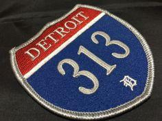 ★US デトロイト Interstate ヒートシールパッチ/ワッペン 新品_画像1