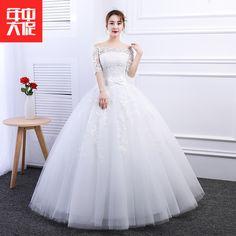 대형 웨딩 간단한 단어 어깨 소매를 육성 2017 봄 새 신부의 웨딩 드레스 제나라 한국어