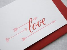 Missive Love Arrows Valentines Day Card 550x412 Seasonal Stationery: Valentines Day Cards, Part 4