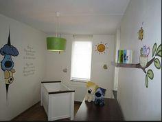 muurschildering woezel en pip babykamer www.adeliodeco.nl | wall, Deco ideeën
