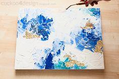 DIY Abstract Artwork Tutorial - Cuckoo4Design