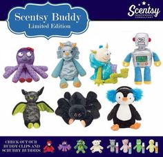 Limited-edition Scentsy Buddy Collection. Decdember 2015 Order at: www.smellarific.com and Follow me on Facebook at: www.facebook.com/smellarific