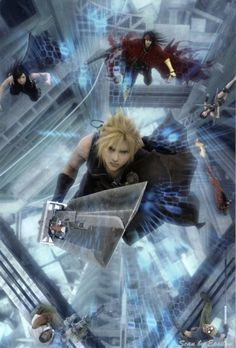 Square Enix, Final Fantasy VII: Advent Children, Barret Wallace, Cait Sith, Red XIII