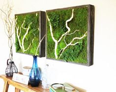 Re-connect with the beauty of nature - bring the great outdoors into the heart of your home or office! Preserved to permanently capture the look of thriving, verdant, living plants, Artisan Moss® Green Wall Plant Paintings® enrich and enliven any indoor space. It's a simple alternative to a living wall that effortlessly maintains a stunning appearance.  Living walls are popular, but their upkeep and longevity is seldom viable. Artisan Moss is a breakthrough in using 100% real plants…
