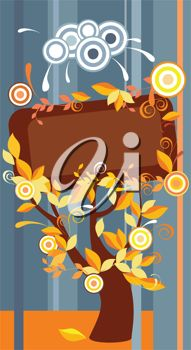 iCLIPART - Decorative vector frame with autumn leaves