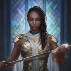 Dungeons And Dragons Characters, Dnd Characters, Fantasy Characters, Female Characters, Superhero Characters, Fantasy Warrior, Fantasy Rpg, Fantasy Artwork, Black Girl Art