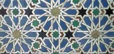 Six-point geometric tilework at the Alcázar, Seville
