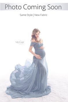 """""""Envoyé Du Ciel"""" Style Angela Gown • Velvet Mermaid Maternity Gown • Mermaid Style Maternity Gown • Sheer Maternity Gown • Maternity Photo Shoot Gown • Event Gown • Wedding Dress"""