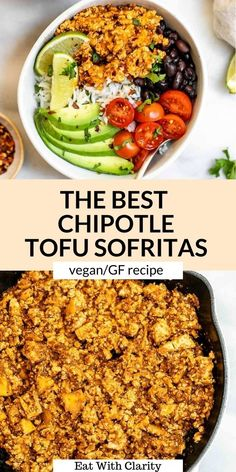 This copycat chipotle sofritas is the perfect easy vegan dinner recipe. Make it into bowls, burritos, tacos and more. It's perfectly spiced, easy to make, and tastes just like the chipotle classic! This gluten free sofritas recipe is perfect for meal prep. #sofritas #tofu Quick Vegetarian Dinner, Easy Vegan Dinner, Vegan Dinner Recipes, Healthy Pasta Recipes, Meal Recipes, 30 Minute Meals