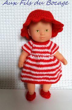 Habits de poupon mini câlin de Corolle 20 cm, robe chapeau et chaussons : Jeux, jouets par aux-fils-du-bocage