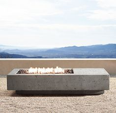 RH Moderns 72 Ixtapa Propane Asymmetrical Rectangle Fire TableSet the stage for outdoor ambience with the warmth of a cleanburning hearth Our handcrafted fire table made. Metal Fire Pit, Concrete Fire Pits, Diy Fire Pit, Fire Pit Backyard, Natural Gas Fire Pit, Glass Fire Pit, Fire Pit Materials, Fire Pit Furniture, O Gas