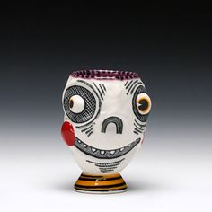 Schaller Gallery : Artist : Michael Corney : Skull Cup - Stiffy
