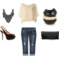 Casual Summer Night Out, created by thook0425 on Polyvore