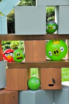 Backyard Angry Birds and tons of other Angry Birds party ideas