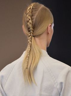 Braid with Victor Alfaro is spotted on the fashion week in Paris, New trend is coming! #hairinspiration, blond, braids