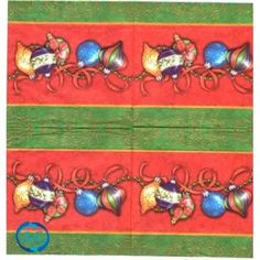 Servilleta decorada Bolas y guirnaldas