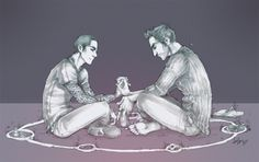 AU time.. a little tattoo'ed Stiles, a little human/Magic using Derek. Final Sterek Campaign auction pic, and the first sign of Dere...