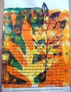 Leaf print on paper by Jane Lafazio