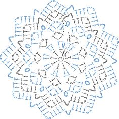 The raspberry road blanket is a free crochet pattern on Haakmaarraak.You will have to repeat the pattern for each snowflake you will need for your undertaking. Free Crochet Doily Patterns, Crochet Motifs, Crochet Diagram, Crochet Doilies, Crochet Flowers, Crochet Hammock, Crochet Mat, Crochet Blocks, Thread Crochet