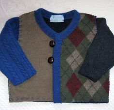 Felted Baby Cardigan  made from Recycled Sweaters by heartfeltbaby, $70.00