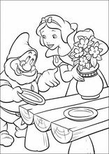 Coloring book. ColouringSnow White and the Seven Dwarfs4