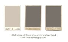 free $0 download of vintage photo frame photo templates from willette