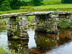 L'Assommoir.  Ancient Clapper Bridge,Dartmoor,Devon,England.