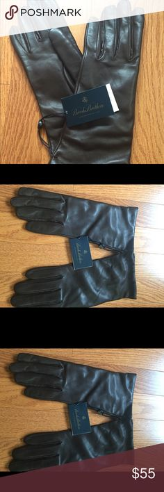 Brooks Brothers Leather Gloves New with tags beautiful butter soft chocolate brown leather. 100 percent cashmere lined. Made in Italy. Size 7 1/2. Brooks Brothers Accessories Gloves & Mittens