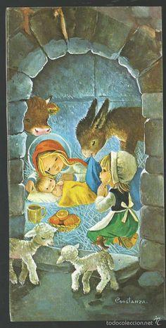 FELICITACION NAVIDAD CONSTANZA - EL PORTAL DE BELEN (Postales - Navidad)