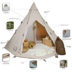 Nordisk Alfheim Tent 19.6m Natural Tent Glamping
