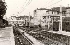 Areetako antzinako geltokia / Antigua estación del ferrocarril de Las Arenas, 1950 (ref. SN01540)