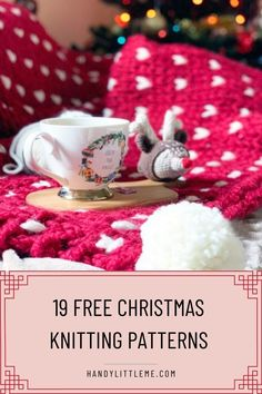 19 Free Christmas Knitting Patterns | Free Christmas knitting patterns including Christmas knits for all of the family. Make hats, dog sweaters, Christmas decorations and more! #Christmasknits #Christmas #knittingpatterns #freepatterns #Christmasknitting #Christmasinjuly Knitted Christmas Decorations, Christmas Tree Hat, Christmas Tree Skirts Patterns, Knitted Christmas Stockings, Christmas Tree Pattern, Christmas Knitting Patterns, Knitted Mittens Pattern, Baby Hat Knitting Pattern, Knitting Patterns Free