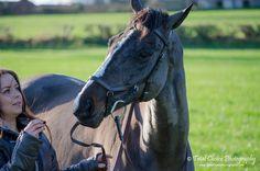 Owner feeding her horse by TotalChoice.deviantart.com on @DeviantArt
