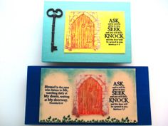 Verse Plaque.  ASK SEEK KNOCK  Matthew 77. Blessed is by WordofGod, $17.00
