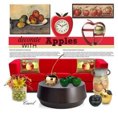 """""""Fruit Decor"""" by hastypudding ❤ liked on Polyvore featuring interior, interiors, interior design, home, home decor, interior decorating, Pillow Decor, Pier 1 Imports, Michael Aram and Kate Spade"""