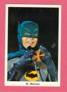 Monty Gum card featuring Batman and Robin from Belgium