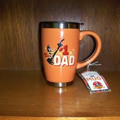 Hallmark Looney Tunes Daffy Duck #1 DAD Ceramic Travel Mug with Lid