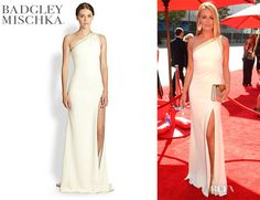 Cat Deeley's Badgley Mischka One Shoulder Gown - Red Carpet Fashion Awards