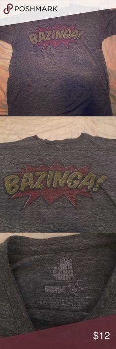 Big Bang Theory t-shirt Grey big bang theory shirt. BAZINGA☄️✨✨✨ size mens medium or womens large. Tops Tees - Short Sleeve