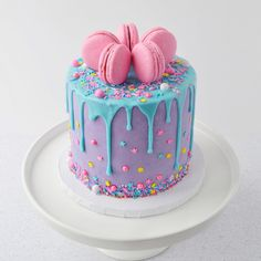 Beautiful Cake Designs, Beautiful Cakes, Amazing Cakes, Pretty Cakes, Cute Cakes, Yummy Cakes, Cute Birthday Cakes, Birthday Cakes Girls Kids, Cake Decorating Videos