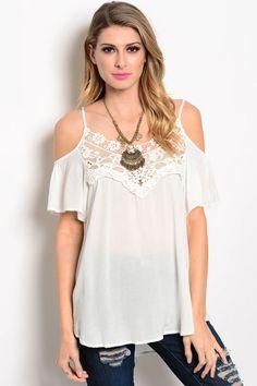 a62059551b1c81 Open-Shoulder Lace Top Shop online at shop.thinkelysian.com Junior Fashion
