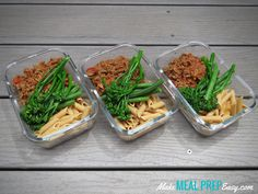 Easy Lean Beef with Penne Pasta Meal Prep