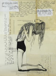 "Saatchi Online Artist: Sara Riches; Ink 2013 Drawing ""And the Music Played"" #art #poetry"