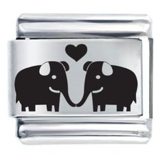 Pugster Elephants In Love Laser Gift Italian Charm: Jewelry: Amazon.com