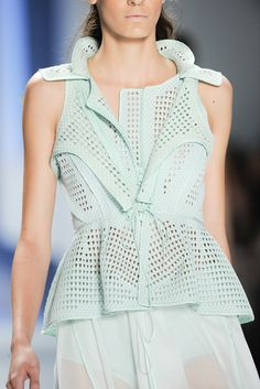 vera wang    there is something about this mint blouse that I love