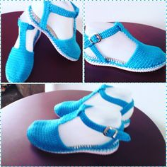 Zapatos tejidos. Calzado hecho a mano. Puro Crochet.  #artesanal #hechoencolmbia #hechoamano #parada - patyartesanal
